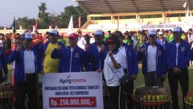 Photo of Dorong Prestasi Olahraga, Agung Toyota Beri Reward Atlet Berprestasi