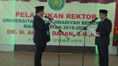 Photo of Resmi Ahmad Dasan Jabat Rektor UMB Periode 2018-2022