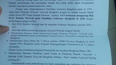 Photo of Benarkah PW Muhammadiyah Provinsi Bengkulu Dukung Rohidin?