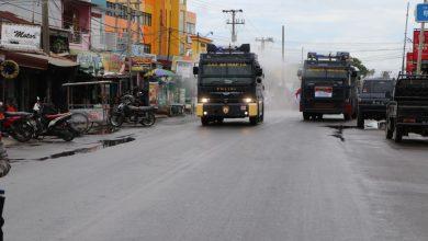 Photo of Serentak Seluruh Indonesia , 3 Jalur Kota Bengkulu disemprot Cairan Disenfektan