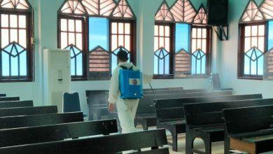 Photo of Satuan Brimob Polda Bengkulu Lakukan Penyemprotan Disinfektan ditempat Ibadah