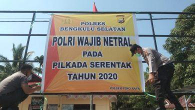 Photo of Netral Polri Pada Pilkada 2020, Polsek Jajaran Polres BS Pasang Spanduk